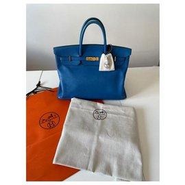 Hermès-Birkin 40-Bleu