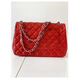 Chanel-Chanel Jumbo classic-Red