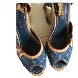 Louis Vuitton-Louis Vuitton sandals-Blue