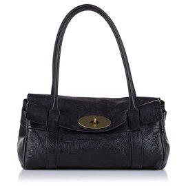 Mulberry-Mulberry Black Bayswater Leather Shoulder Bag-Black