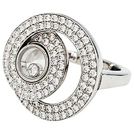 """Chopard-Chopard """"Happy Diamonds"""" ring in white gold and diamonds.-Other"""