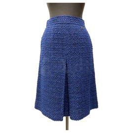Chanel-Lesage Tweed Skirt-Multiple colors