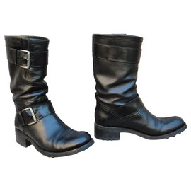 Free Lance-Free Lance Biker model boots 4 Mid Strap p 37-Black