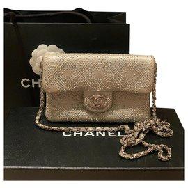 Chanel-Chanel mini shoulder bag-Beige