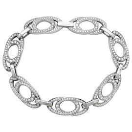 "Chopard-White gold and diamonds Chopard ""Ellipse"" bracelet.-Other"
