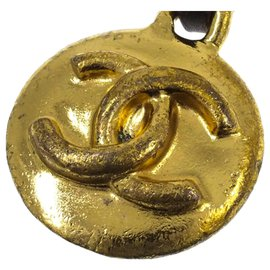 Chanel-Chanel Gold CC Gold-tone Key Chain-Black,Golden