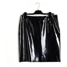 Chanel-BLACK PATENT FR42 New-Black