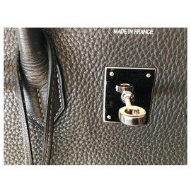 Hermès-Birkin 35-Gris anthracite