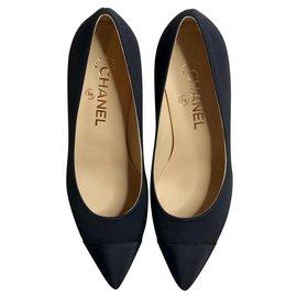 Chanel-Chanel black pumps-Black