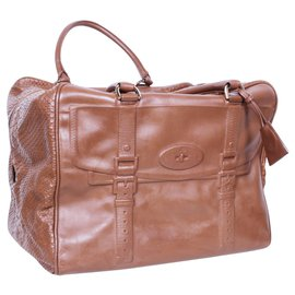 Mulberry-Snakeprint Maisie Clipper-Brown