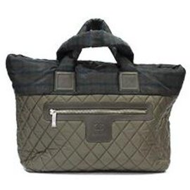 Chanel-CHANEL COCOON QUILTED KHAKI BAG LEATHER DETAIL ZIP CLOSURE-Khaki