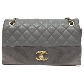 Chanel-CLASSIC CHANEL BAG IN TAUPE calf leather QUILTED QUILTED CC GOLDEN COUTURE-Taupe