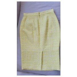 Chanel-Runway Cruise Skirt-Yellow