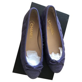Chanel-quilted ballerinas-Lavender