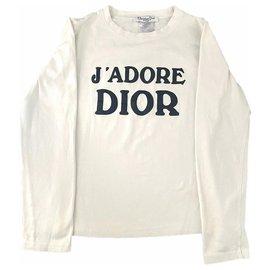 Dior-Tee shirt J'adore Dior-Noir,Blanc cassé