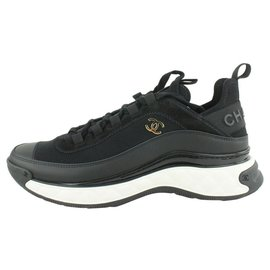 Chanel-Size 39.5 Bubble Quilted Black CC Trainer Sneaker-Other