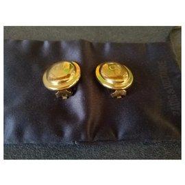 Dior-Boucles d'oreilles CD-Doré