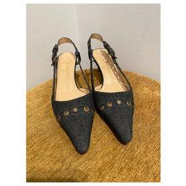 Chanel-Heels-Navy blue