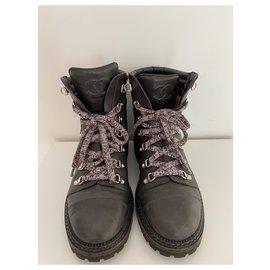 Chanel-Boots-Dark grey