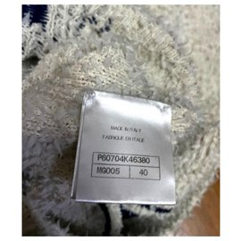 Chanel-Chanel Cotton sweater FR40-White