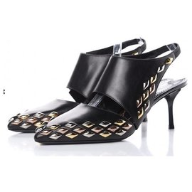 Louis Vuitton-LOUIS VUITTON - Escarpins GOLD RUSH slingback Pumps 39 IT-Black