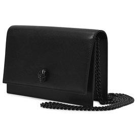 Alexander Mcqueen-Skull Mini Bag in Black Smooth Leahter-Black