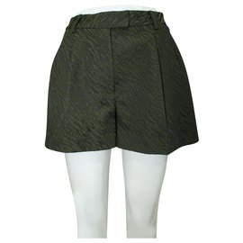 3.1 Phillip Lim-Dark Green Shorts-Green