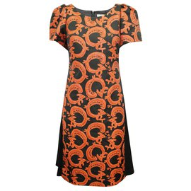 Tsumori Chisato-Black Dress with Orange Decorations-Black