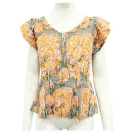 Tsumori Chisato-Grey Top with Embroidery-Grey