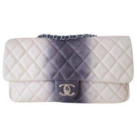 Chanel-Classic Chanel tie and dye bag-Grey,Eggshell