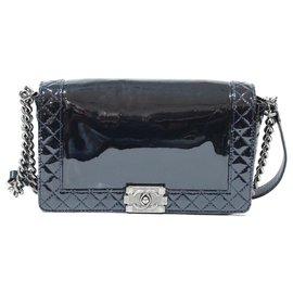 Chanel-Chanel boy bag-Dark blue
