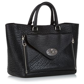 Mulberry-Mulberry Black Willow Leather Hand Bag-Black