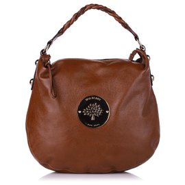 Mulberry-Mulberry Brown Medium Daria Leather Hobo Bag-Brown