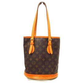 Louis Vuitton-Louis Vuitton Bucket PM-Brown
