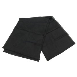 Hermès-NEW STOLE HERMES CONFETTIS D'EX LIBRIS MOUSSELINE BLACK SILK SCARF STOLE-Black