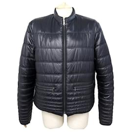 Chanel-CHANEL DOWN JACKET REVERSIBLE QUILTED P42146 l 44 BLACK COAT-Other