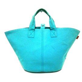 Hermès-Cabas Hermes Sea Blue-Bleu clair
