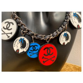 Chanel-Necklaces-Black,White,Red,Blue