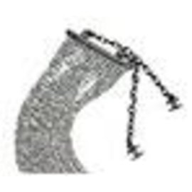 Chanel-CHANEL CROSS-NECK NECKLACE-Silvery