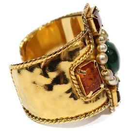 Chanel-BYZANTINE CHANEL CUFF BRACELET-Golden