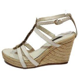 Louis Vuitton-Louis Vuitton sandals-Cream