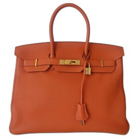 Hermès-Sac Hermes Birkin 35 orange-Orange