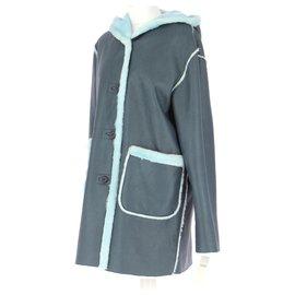 Balmain-Coat-Turquoise