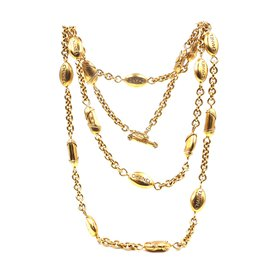 Chanel-Chanel Gold 17 Medallion Motifs CC Charms Necklace-Golden