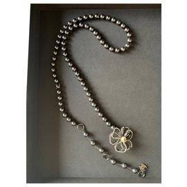 Chanel-Long necklaces-Dark grey