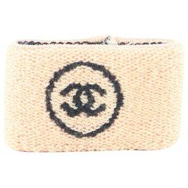 Chanel-Pink x Black Wristband Sweat Band Gym Bracelet Cuff Bangle-Other