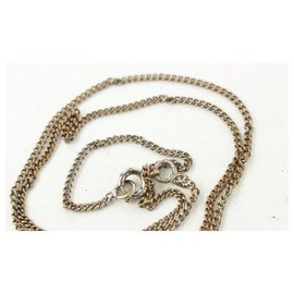 Chanel-04P Music Casette Tape CC Logo Chain Necklace-Other