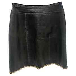 Chanel-Skirts-Black,Gold hardware