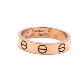 Cartier-Cartier Or Rose 18k Love Taille de la bague de mariage 46-Doré