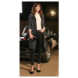 Chanel-7,8K NEW Tweed Coat-Navy blue